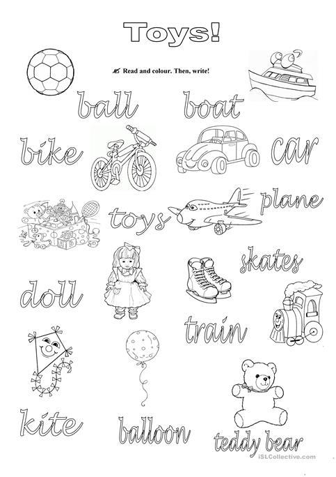 Toys! Worksheet