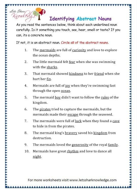 Transform Worksheets Grade 4 Nouns With Additional Grade 3 Grammar