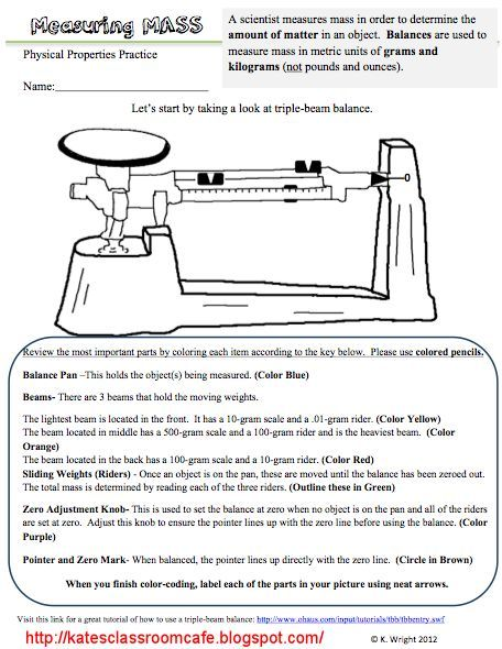 Triple Beam Balance Worksheet Problems