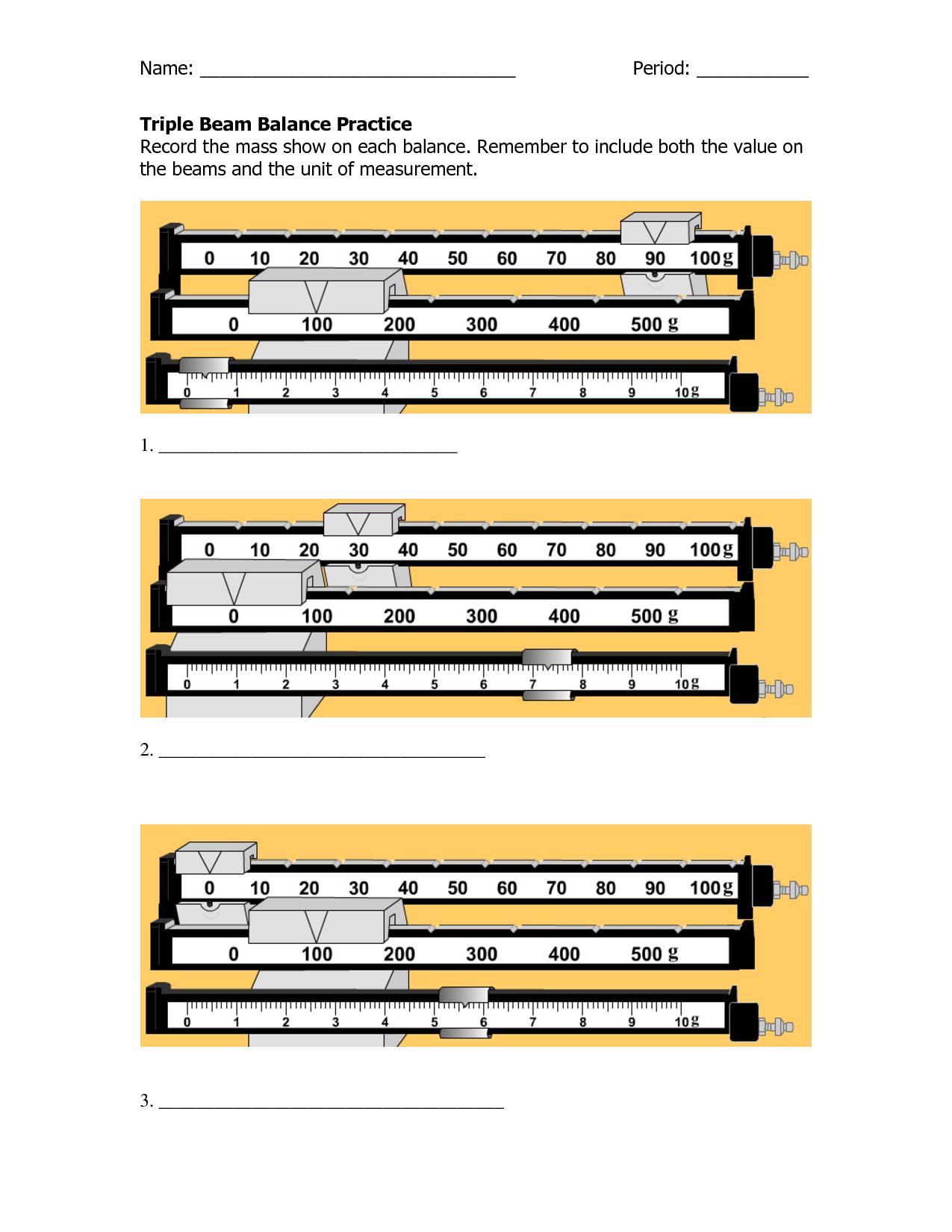 Triple Beam Balance Worksheets The Best Worksheets Image