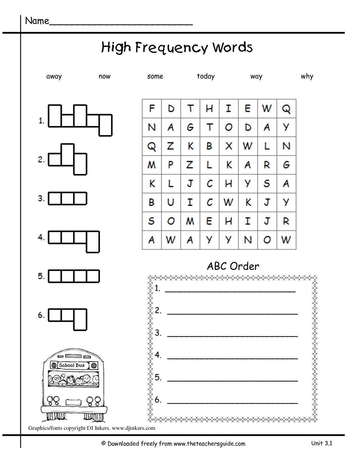 Verb Worksheets For 1st Grade Free