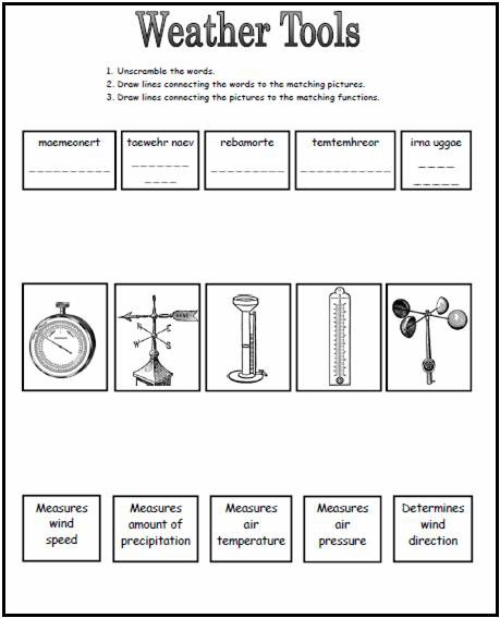 Weather Worksheets For 4th Grade Worksheets For All