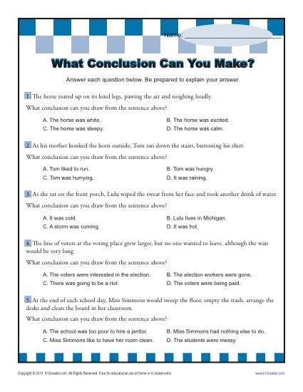What Conclusion Can You Make
