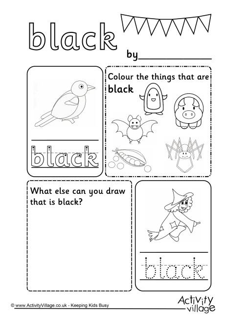 White Color Word Worksheets Worksheets For All