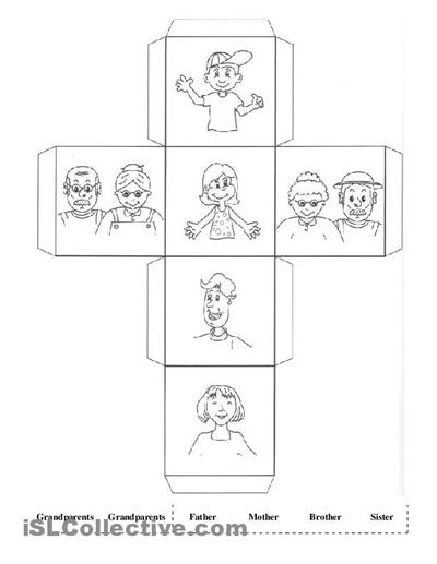 Worksheet For Kindergarten Family