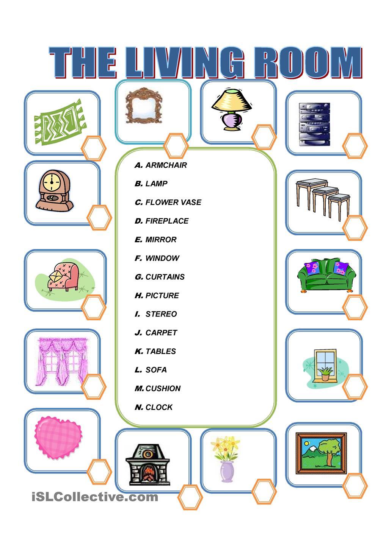 Worksheet Things In The House