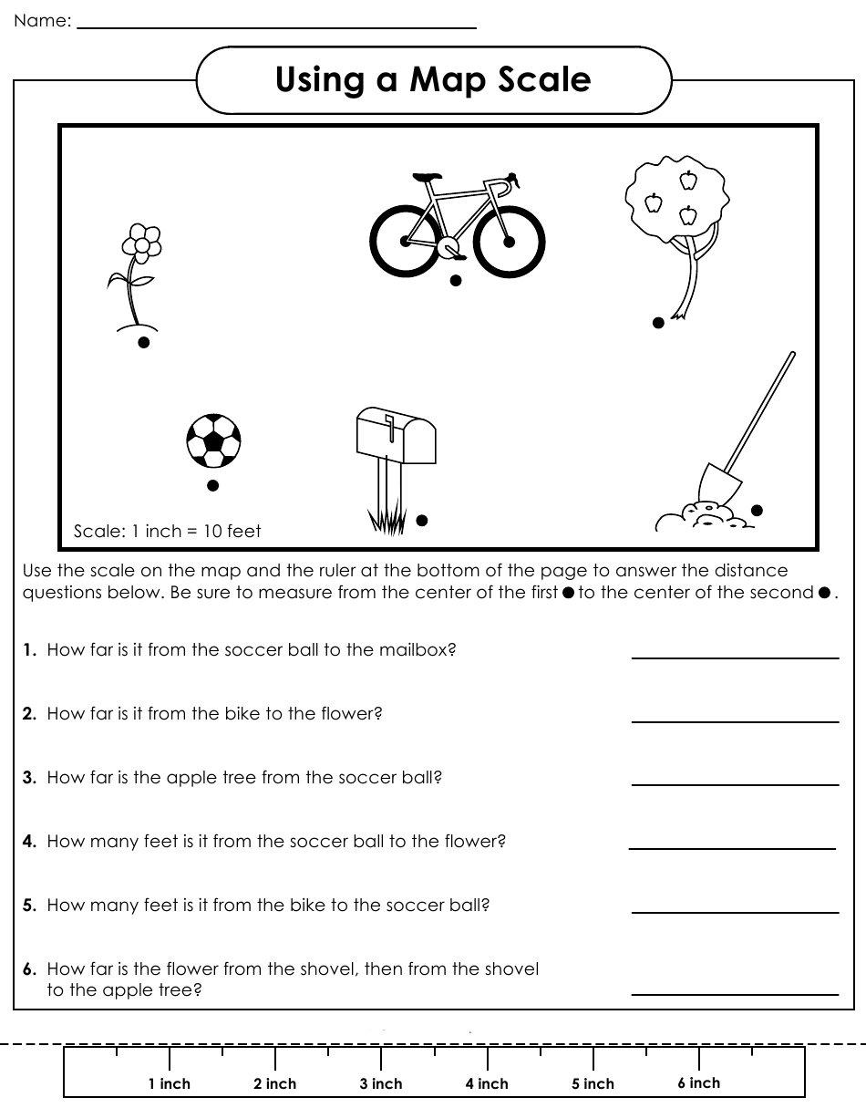 Worksheet Using Map Key