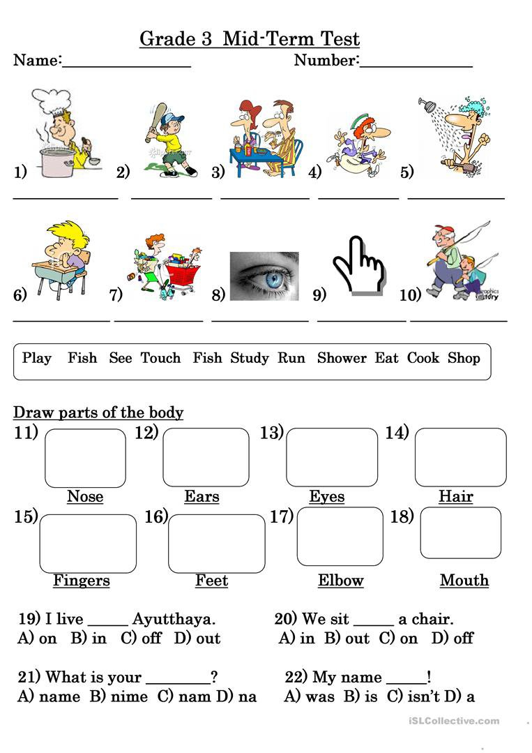 Worksheets For Grade Three The Best Worksheets Image Collection
