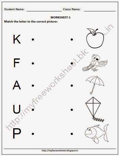 Worksheets For Nursery Kids Worksheets For All