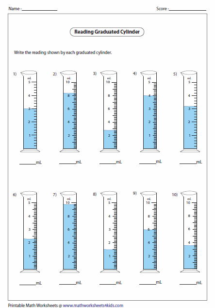 Worksheets Volume And Capacity