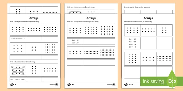 Year 2 Maths Arrays Homework Worksheet   Activity Sheet