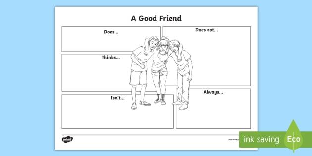 Year 3 Good Friend Worksheet   Activity Sheet
