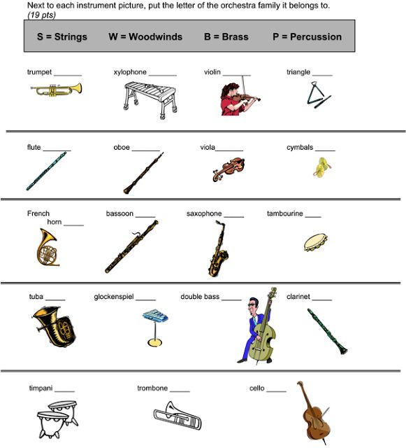 107 Best Instruments & Timbre Images On Free Worksheets Samples