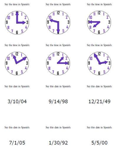117 Best Time La Hora Images On Free Worksheets Samples