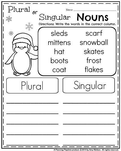 128 Best Singular Plural Images On Free Worksheets Samples