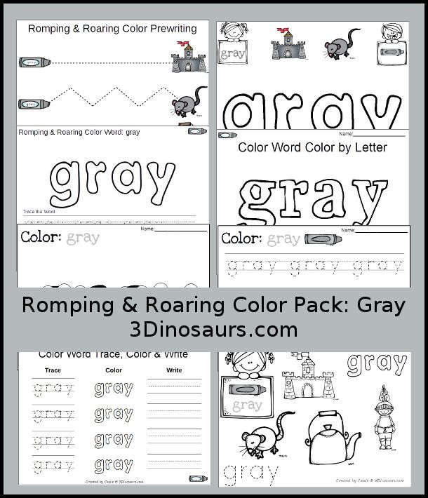 12 Best Color Gray Images On Free Worksheets Samples