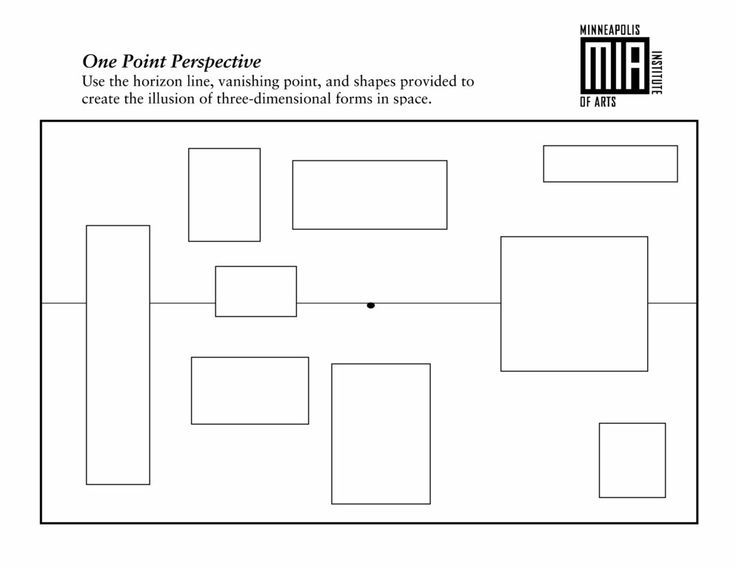 1 Point Perspective Lesson Plan