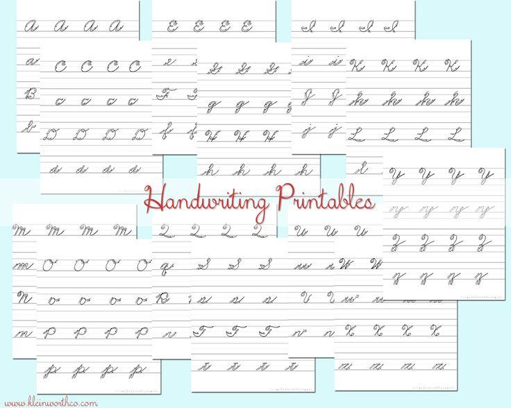 207 Best Handwriting Images On Free Worksheets Samples