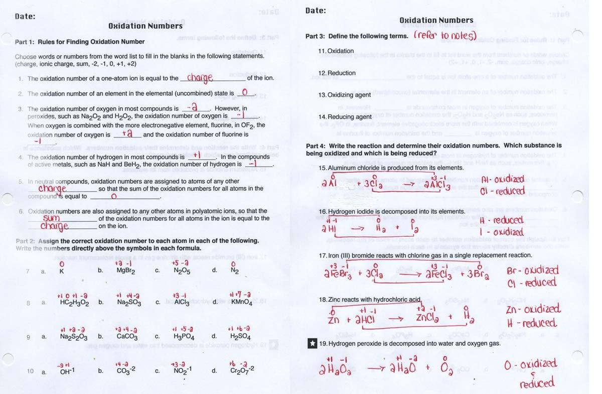 28467584 Jpg Redox Reactions Worksheet