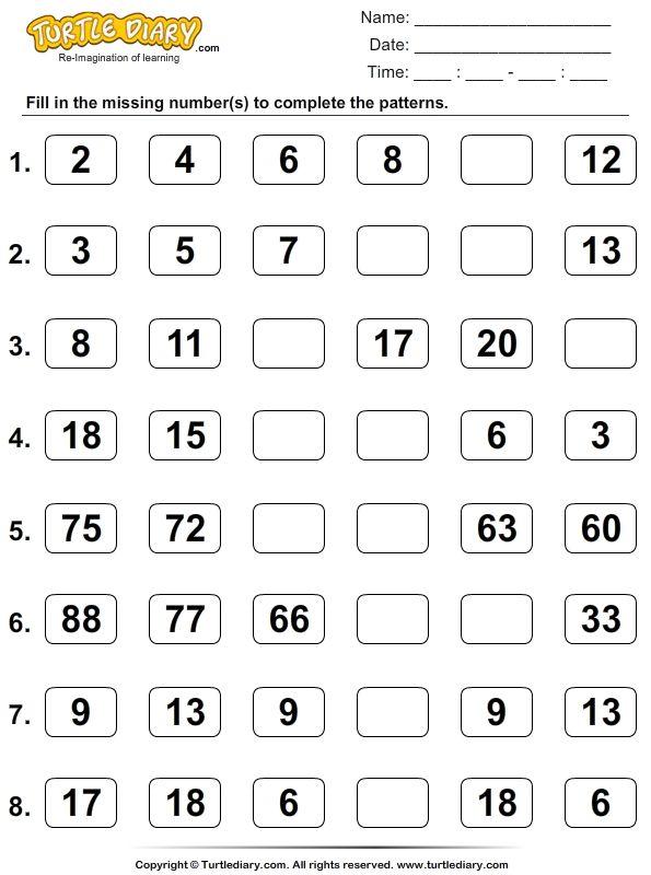 36 Best Pattern Worksheets Images On Free Worksheets Samples