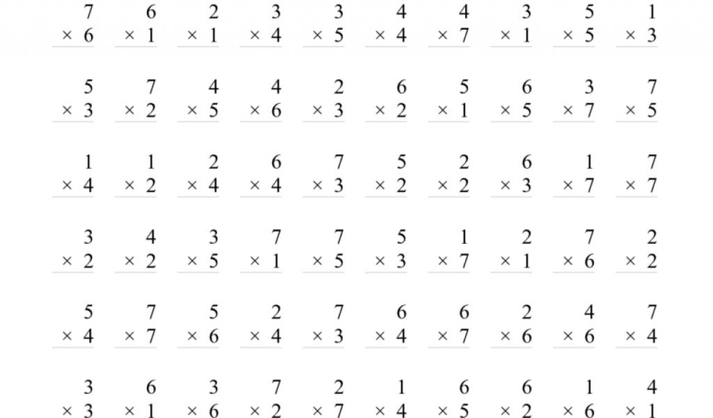 3rd Grade Multiplication Worksheets 358277