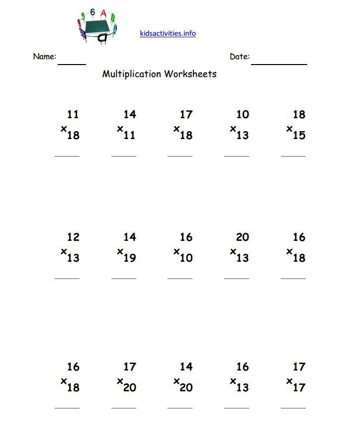 3rd Grade Multiplication Worksheets 358280