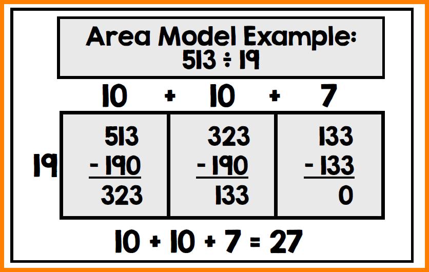 6+ Area Model Division Worksheet