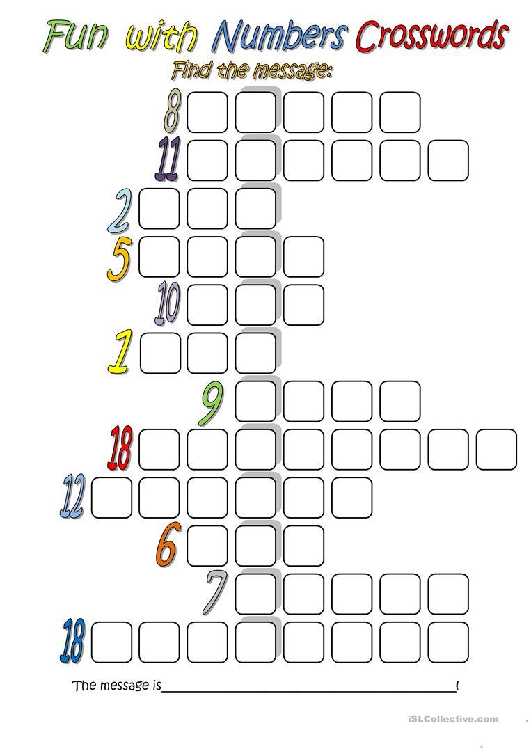 971 Free Esl Number Worksheets