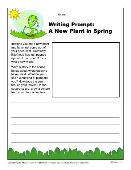 A New Plant In Spring Writing Prompt For 3rd, 4th And 5th Grade