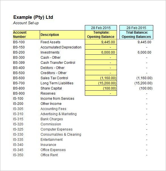 Accounting Worksheet Template Free 5 Accounting Worksheet
