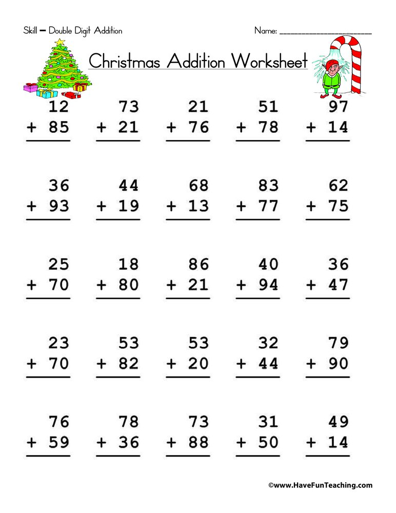 Addition Worksheet Addition Worksheets 2 Digit With Regrouping