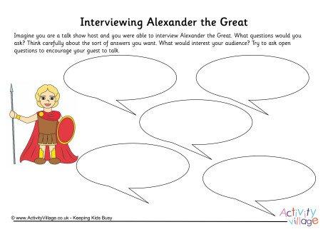 Alexander The Great Interview Worksheet