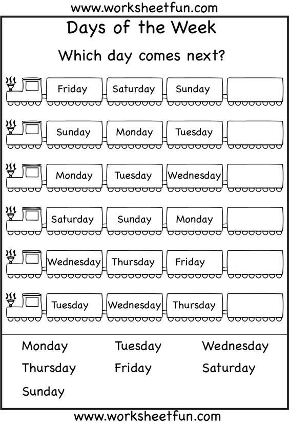Alluring English Worksheets On Days Of The Week With Content 2013