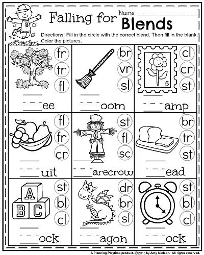 Amusing Blends And Digraphs Worksheets For First Grade With Best