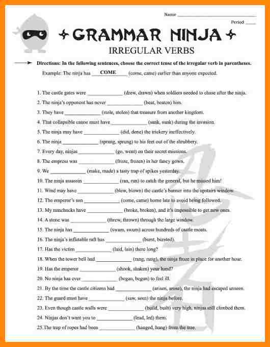 Amusing Worksheets For English 3rd Grade With 10 3rd Grade English