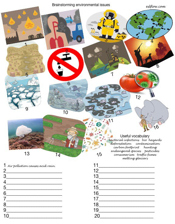 An Environmental Issues Exercise For English Language Learners