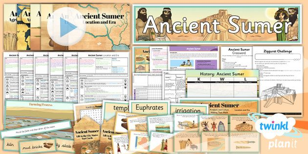 Ancient Sumer Unit Pack From Twinkl (by Subscription)