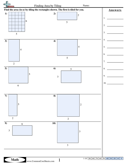 Area & Perimeter Worksheets