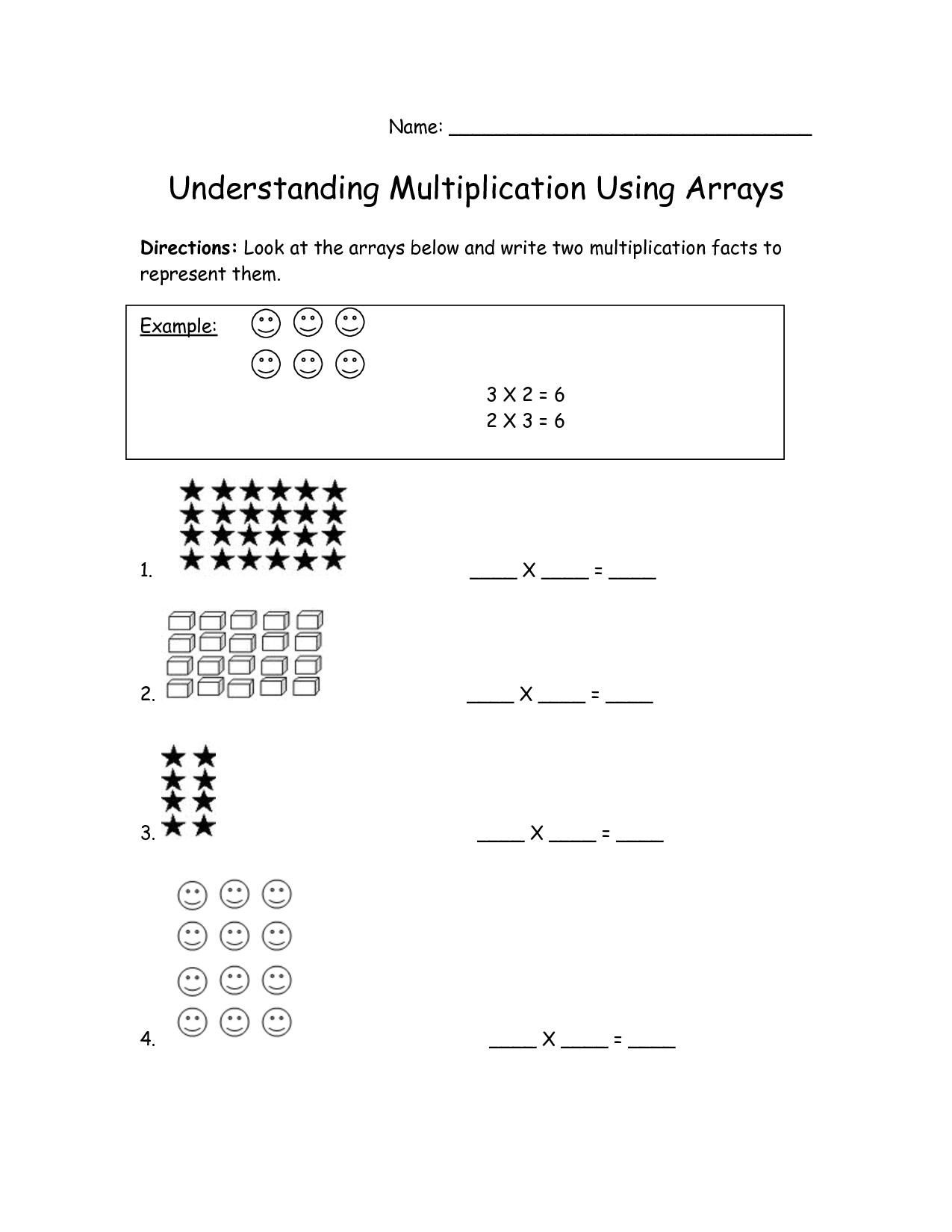 Array Worksheet 3rd Grade The Best Worksheets Image Collection