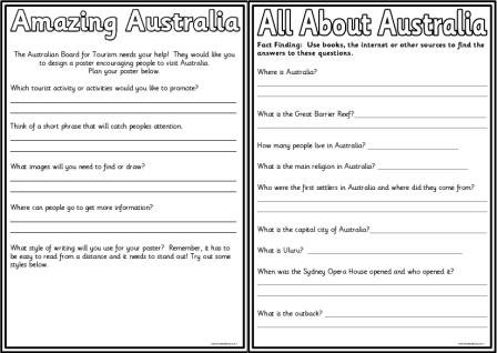 Australia Teaching Resources, Including Many Free Sets Of