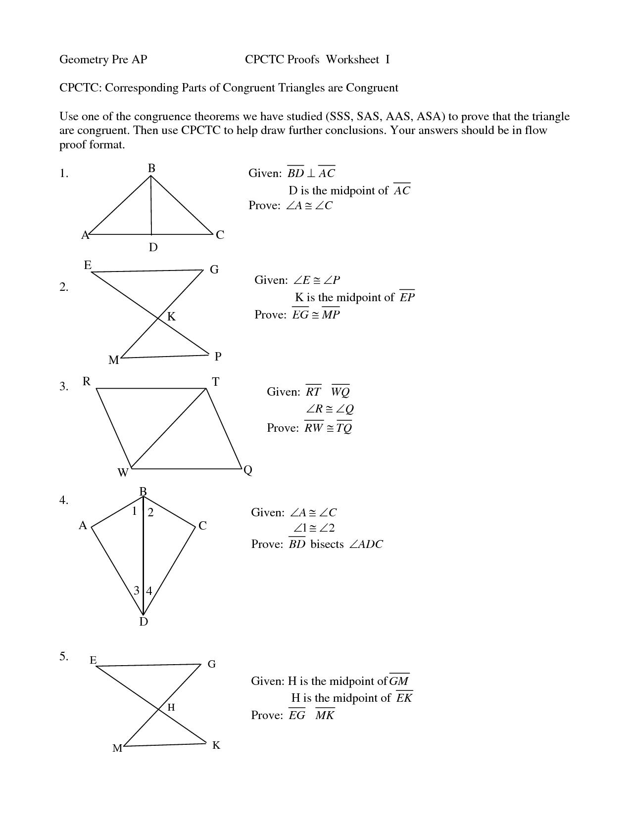 Basic Geometry Proofs Worksheet The Best Worksheets Image