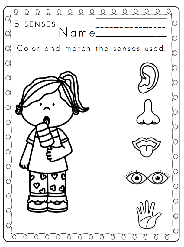 Beautiful 5 Senses Coloring Pages Contemporary