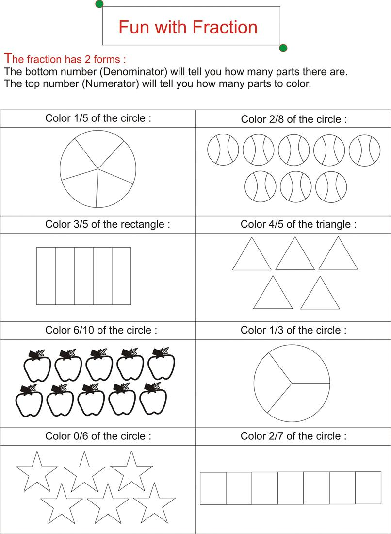 Best Ideas Of Fun Fraction Worksheets In Sheets