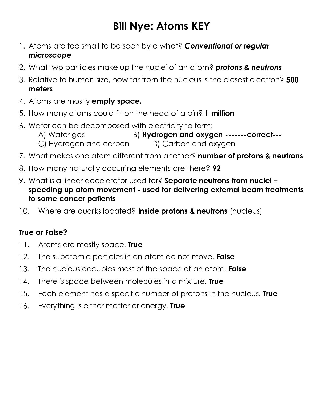 Bill Nye Electricity Worksheet The Best Worksheets Image
