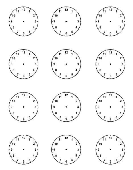 Blank Clock Worksheets Telling Time Worksheets Blank Clock Faces