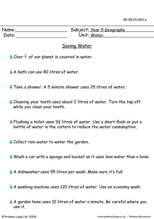 Brilliant Ideas Of Save Water Worksheets For Kindergarten For