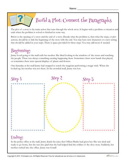 Build A Plot  Connect The Paragraphs Worksheet