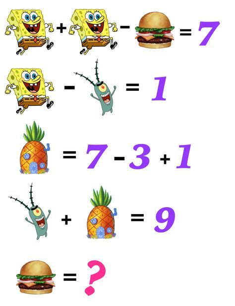 Can Your Kids Solve These Fun, Free, And Printable Spongebob Math