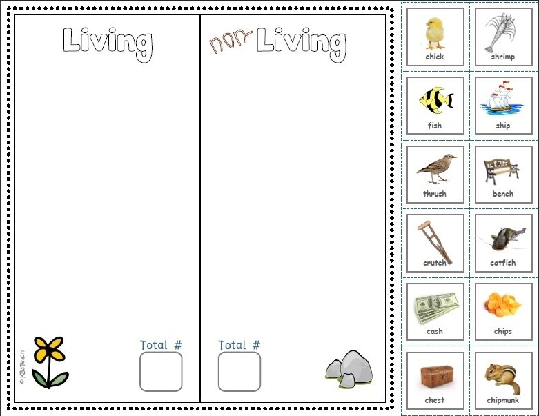 Captivating Free Cut And Paste Blends Worksheets On Living Non