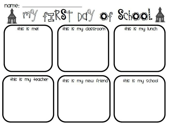 Captivating Kindergarten Worksheets For The First Week Of School